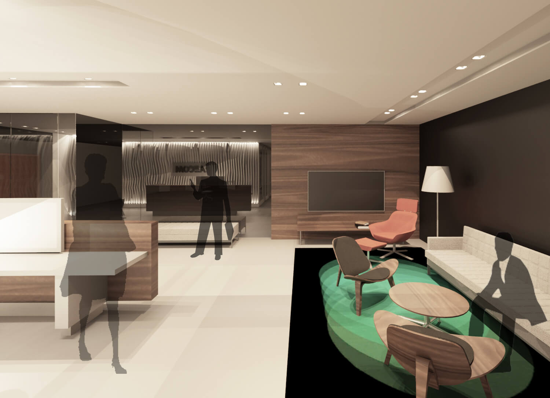 Aecom Office Concept Edmonton. Office Lobby Design Concept